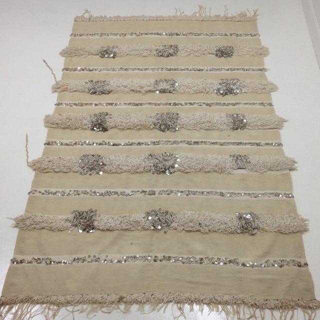 Moroccan Handira Wedding Blanket - Image 2 of 4