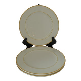 """Hema Aardewerk"" Mid Century Orange Rim Dinner Plates - Set of 3"