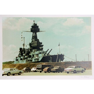 "Tom Blackwell, ""Battleship Texas,"" Serigraph"