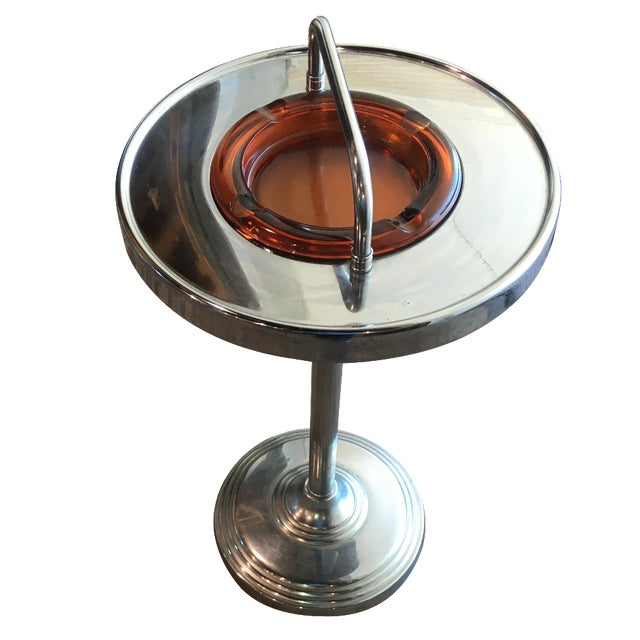 Machine Age Industrial Chrome Smoking Stand - Image 1 of 10