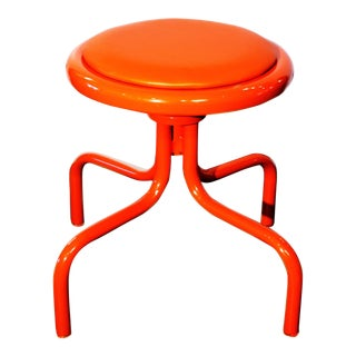 Electric Orange Counter Stool