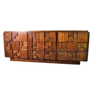Mid-Century Modern Brutalist Dresser by Lane