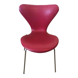 Arne Jacobsen for Fritz Hansen Series 7 Red Chair