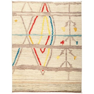 """Moroccan, Hand Knotted Area Rug - 4' 7"""" x 5' 9"""""""