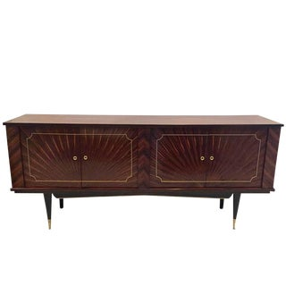 "French Art Deco Macassar Ebony ""Sunburst"" Buffet"