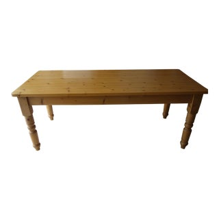 Large Natural Pine Dining Table