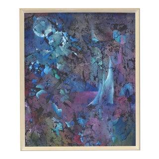 """Vintage Batik Painting """"Private World"""" by Ledbetter c.1970"""