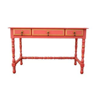 Painted 1960's Coral Pink Desk