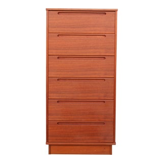 Danish Teak 6 Drawers Highboy