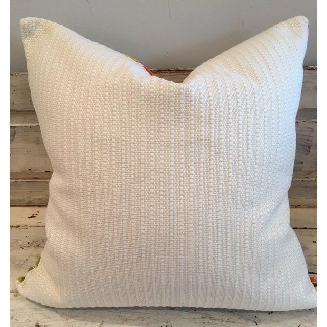 "Retro Geometric Cut Velvet 26"" Pillows - Pair - Image 3 of 4"