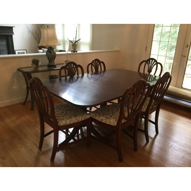 Drexel Travis Court Dining Room Table - Image 3 of 6