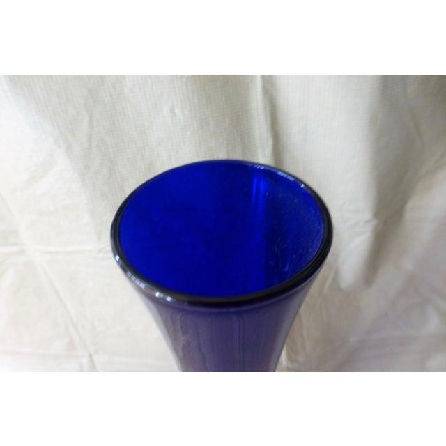 Large Cobalt Blue Flower Vase - Image 3 of 7