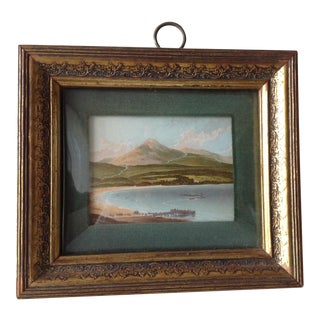 Hand-Painted Convex Glass Framed Colored Print