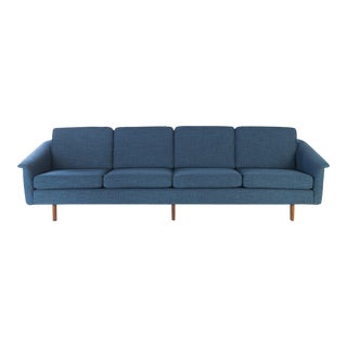 DUX Blue 4 Seater Sofa