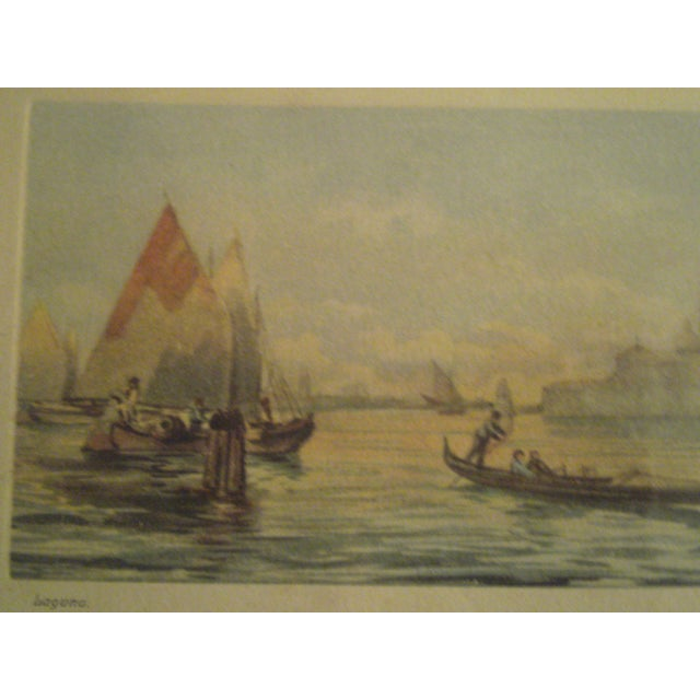 Image of 1920s Framed Colored Venice Print
