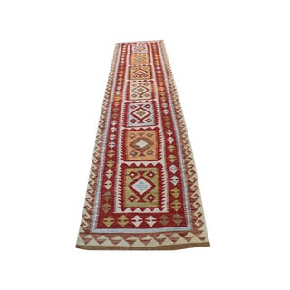 Handmade Vegetable Dyed Kilim Rug - 2′8″ × 9′8″