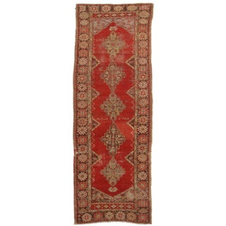 "RugsinDallas Antique Turkish Oushak Runner - 3'6"" X 10'"