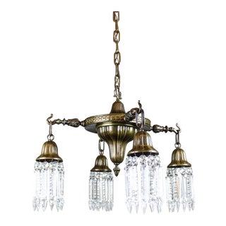 Antique American Pan Light Fixture (4-Light)