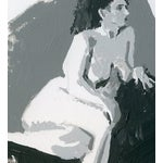 Image of Reclining Female Acrylic Sketch