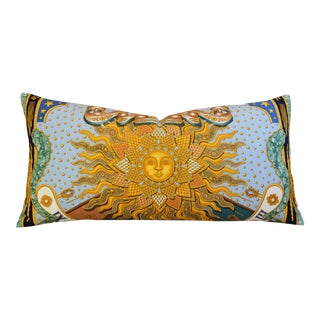 Custom Tailored Hermes Joachim Metz Silk Sun Pillow
