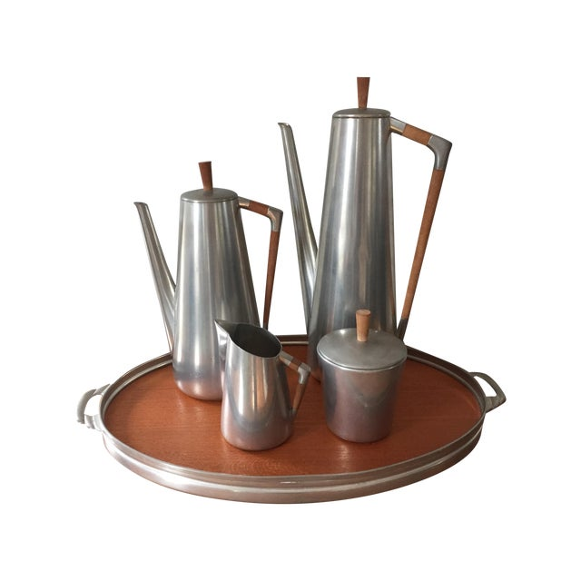 MCM Royal Holland Pewter Coffee/Tea Set for 5 - Image 1 of 5
