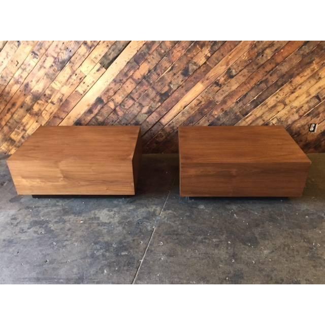 Mid-Century Style Custom Wood Coffee Table