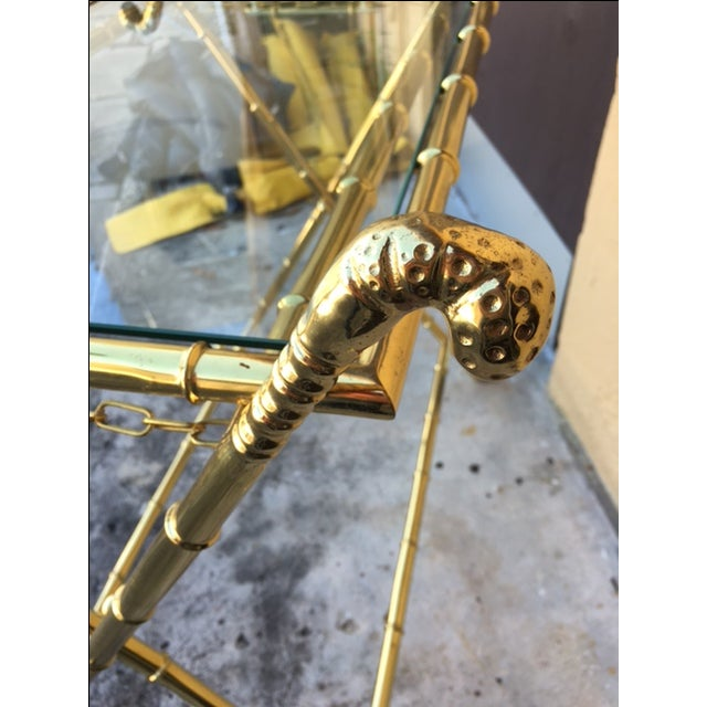 Contemporary Brass Bar Table - Image 6 of 8
