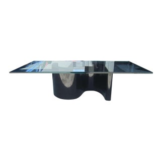 Black Formica S-Base Coffee Table
