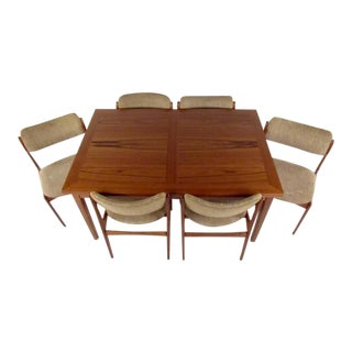 Mid-Century Skovby Teak Dining Table and Six OD Mobler Chairs