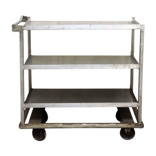 Industrial Rolling Cart with Handle Bar