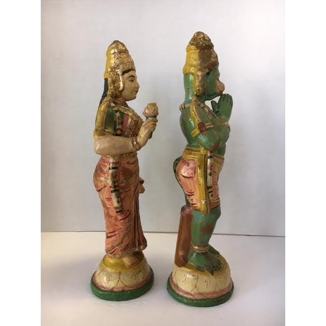 Terra Cotta Indian Figurines - A Pair - Image 3 of 7