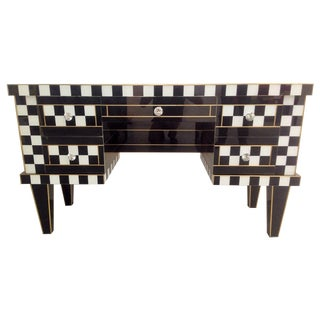 Black & White Mirror Desk or Vanity Table