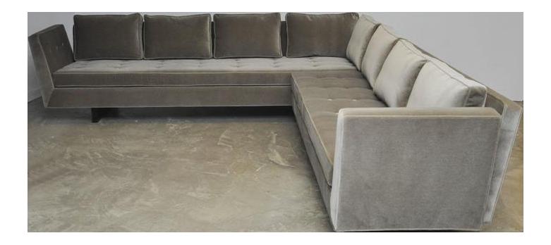 Dunbar Open Arm Sofa With Bracket Backs By Edward Wormley   Image 1 Of 7