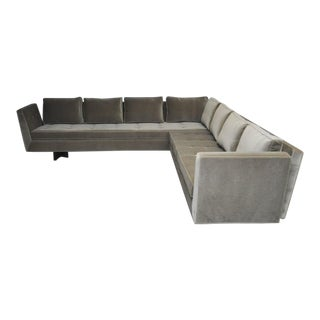 Dunbar Open Arm Sofa with Bracket Backs by Edward Wormley