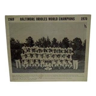 """Baltimore Orioles World Champions 1969-1970"" Baseball Poster"