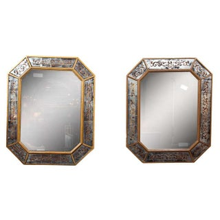 Jansen French Eglomise Mirrors - A Pair
