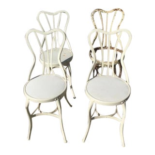Antique English Garden Chairs - Set of 4