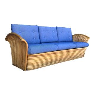 Vintage Split Reed Rattan Sofa