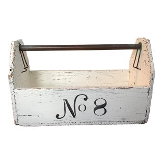 Reclaimed Wood Box with Metal Handle