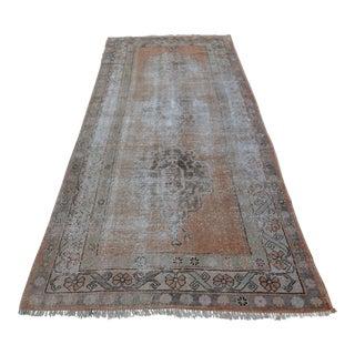 Vintage Faded Handwoven Carpet - 4′1″ × 9′10″