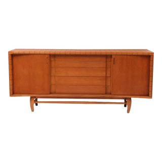 Scalloped Oak Credenza by Harold Schwartz for Romweber