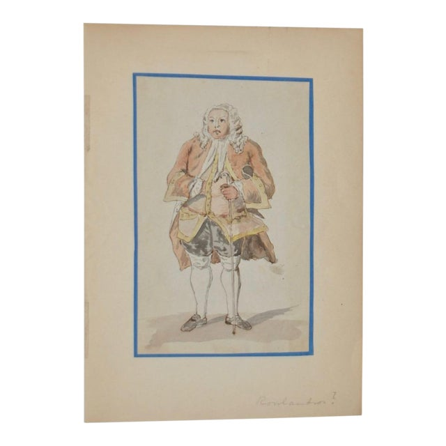 19th Century Pen, Ink & Watercolor Illustration in the School of Rowlandson - Image 1 of 4