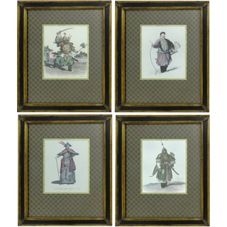 Vintage Chinese Warrior Prints - Set of 4