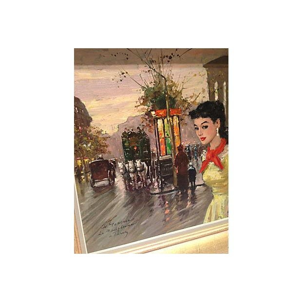 1950's Gerome-Signed Le Madeliane Oil Painting - Image 2 of 6