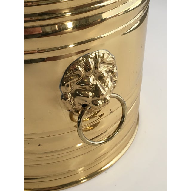 Lion Head Brass Planter, Made in England - Image 5 of 11
