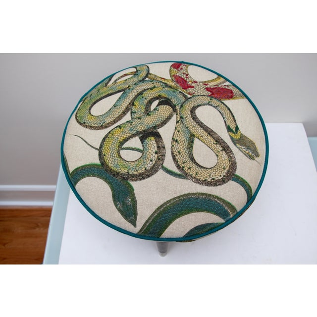 Snake Upholstered Footstool - Image 5 of 6