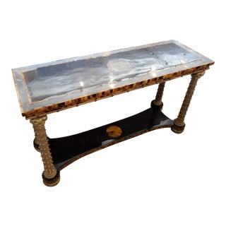 Maitland Smith Tortoise Shell Inlay Console