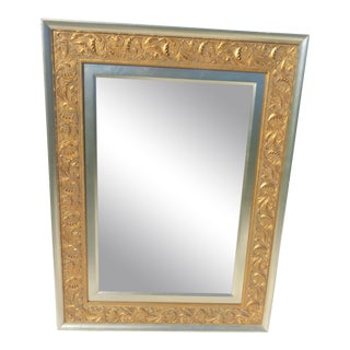 Carved Silver & Gold Gilt Mirror