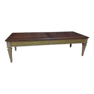 Hazelnut Top Vintage Coffee Table
