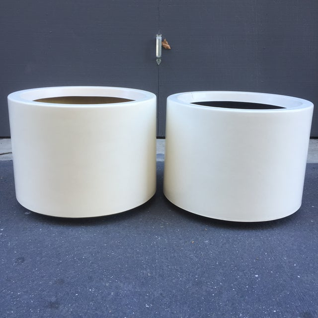D. Deeds Architetural Fiberglass Planters - A Pair - Image 2 of 5